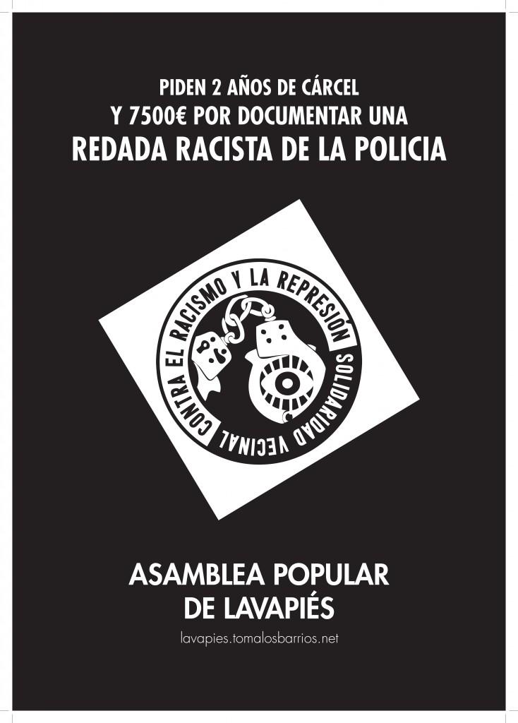 CARTEL contra el racismo y la represión